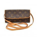 Louis Vuitton Pochette Twin PM Monogram Canvas Shoulder Bag