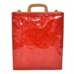 Louis Vuitton Stanton Red Vernis Leather Tote Handbag