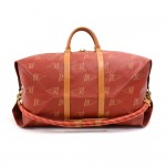 Vintage Louis Vuitton 1995 LV Cup Red Coated Canvas Duffel Travel Bag Strap Limited Ed
