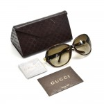 Gucci Oversized Tortoise Shell Style Oval Gradient Sunglasses- GG 3525