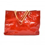 Louis Vuitton Reade GM Red Vernis Leather Handbag