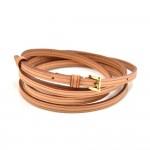 Louis Vuitton Cowhide Leathe Wrap Bracelet-Rare
