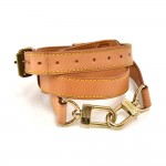 Louis Vuitton Beige Cowhide Leather Adjustable Shoulder Strap For Travel Bags