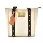 Louis Vuitton Cabas MM White Antigua Canvas Tote Bag - 2006 Limited