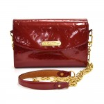 Louis Vuitton Bel Air Pomme D'Amour Red Vernis Leather 2-Way Clutch & Chain Strap