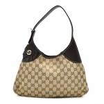 Gucci Beige GG Original Canvas Thin Bow Hobo Bag
