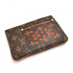 Louis Vuitton Orange Perforated Monogram Canvas Pochette Plat Bag-Limited Ed