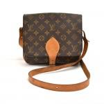 Vintage Louis Vuitton Cartouchiere MM Monogram Canvas Crossbody Bag