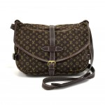 Louis Vuitton Saumur 30 Ebene Brown Monogram Mini Lin Shoulder Bag