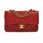Vintage Chanel 2.55 Doubleflap Red Quilted Leather Shoulder Bag
