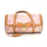 Louis Vuitton Papillon 27 Cherry Blossom White Monogram Canvas Murakami Handbag