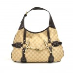 Gucci Bridle Bit 85th Anniversary Edition Beige GG Canvas Hobo Bag