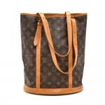 Vintage Louis Vuitton Bucket GM Monogram Canvas Shoulder Bag