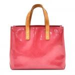 Louis Vuitton Reade PM Pink Framboise Vernis Leather Handbag