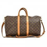 Vintage Louis Vuitton Keepall 45 Bandouliere Monogram Canvas Duffle Travel Bag + Strap