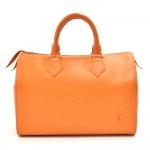 Louis Vuitton Speedy 25 Orange Epi Leather City Handbag -Rare Ed