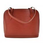 Vintage Louis Vuitton Lussac Brown Epi Leather Large Shoulder Bag