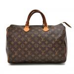 Louis Vuitton Speedy 35 Monogram Canvas City Handbag