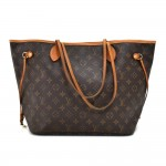 Louis Vuitton Neverfull MM Monogram Canvas Shoulder Tote Bag