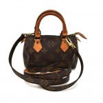 Vintage Louis Vuitton Mini Speedy Sac HL Monogram Canvas Handbag + Strap