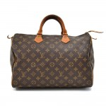 Vintage Louis Vuitton Speedy 35 Monogram Canvas City Handbag-1980s