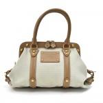 Louis Vuitton Sac de Nuit MM Gray Toile Trianon Canvas Handbag-Limited Ed