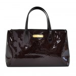 Louis Vuitton Willshire Purple Amarante Vernis Leather Handbag