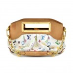 Louis Vuitton Judy PM White Multicolor Monogram Canvas Handbag