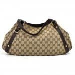 Gucci Pelham Beige GG Original Canvas & Leather Shoulder Bag