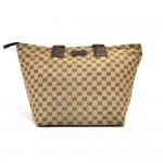 Gucci Beige GG Original Woven Canvas & Striped Web Strap Tote Bag