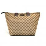 Gucci Beige GG Original Woven Canvas & Striped Web Strap Tote Bag