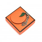 Vintage Hermes Orange Leather Bag Charm