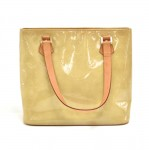 Louis Vuitton Houston Noisette Beige Vernis Leather Shoulder Bag
