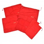 Bally Red Cotton Drawstring Dust bag-Assortment of 6