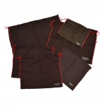 Coach Chocolate Brown and Red Trim Drawstring Dust Bag-Assortment of 6