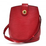 Louis Vuitton Cluny Red Epi Leather Shoulder Bag
