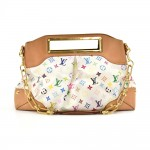 Louis Vuitton Judy MM White Multicolor Monogram Canvas 2 Way Bag