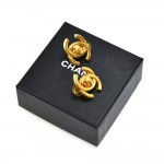 Vintage Chanel Gold Tone CC  Logo Twist-Lock Earrings