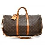 LS653 Vintage Louis Vuitton Keepall 50 Bandouliere Monogram Canvas Travel Bag + Strap