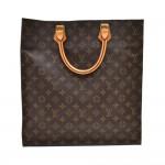 Vintage Louis Vuitton Sac Plat Monogram Canvas Tote Handbag