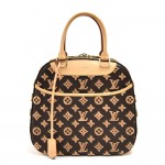Louis Vuitton Deauville Cube Monogram Tuffetage Canvas Handbag-Limited Ed