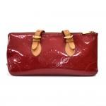 Louis Vuitton Rosewood Avenue Red Pomme D'amour Vernis Leather Shoulder Bag