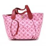 Louis Vuitton Cabas Ipanema GM Rose Red Monogram Cotton Beach Bag