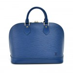 Vintage Louis Vuitton Alma Blue Epi Leather Handbag