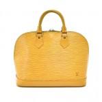 Vintage Louis Vuitton Alma Yellow Epi Leather Handbag
