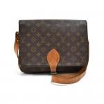 Vintage Louis Vuitton Cartouchiere GM Monogram Canvas Shoulder Bag-1980s
