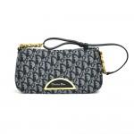 Dior Malice Pearl Navy Monogram Canvas Flap Shoulder bag - Rare Bag