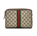 Vintage Gucci Accessory Collection GG Supreme Coated Canvas Travel Case