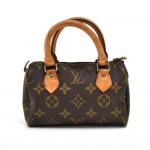 Vintage Louis Vuitton Mini Speedy Sac HL Monogram Canvas Handbag-1980s