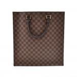 Louis Vuitton Sac Plat Ebene Damier Canvas Tote Handbag